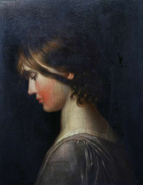Portrait of a Girl (oil on canvas)
