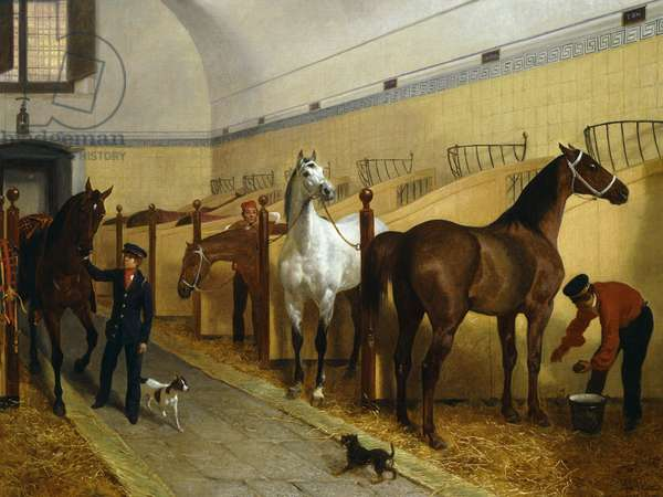 Stables, by Filippo Palizzi, 1848