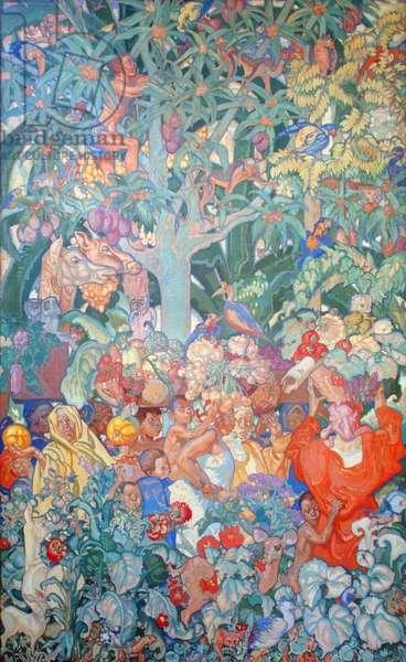 British Empire Panel 12, c.1930 (oil on canvas)