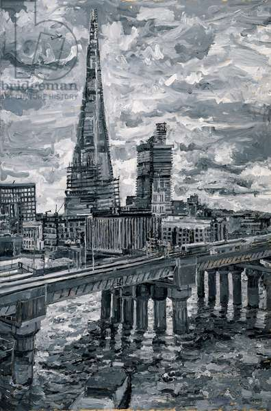The Shard from Queen Street Place, 2013 (oil on board)