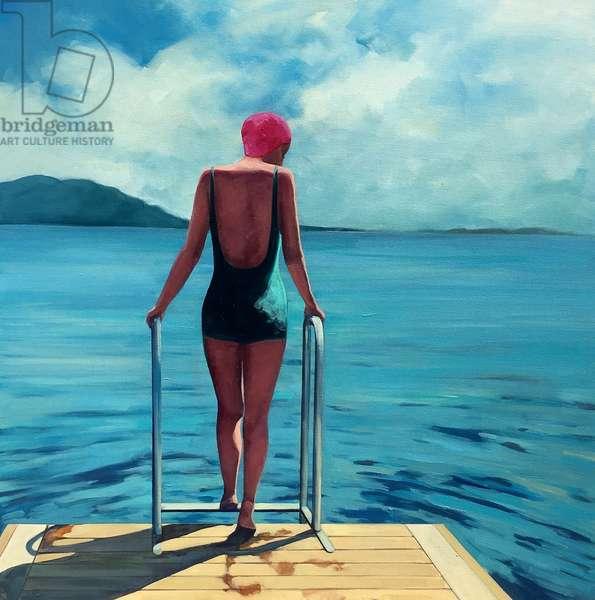 Summer Swim, 2018 (oil on canvas)