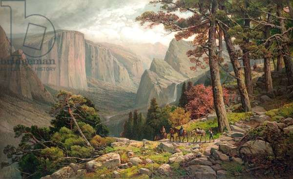 Yosemite Valley California (from Mariposa trail)