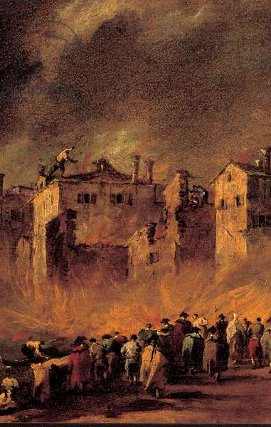 Fire in the San Marcuola Oil Depot, 1789 - 1790 (oil on canvas)