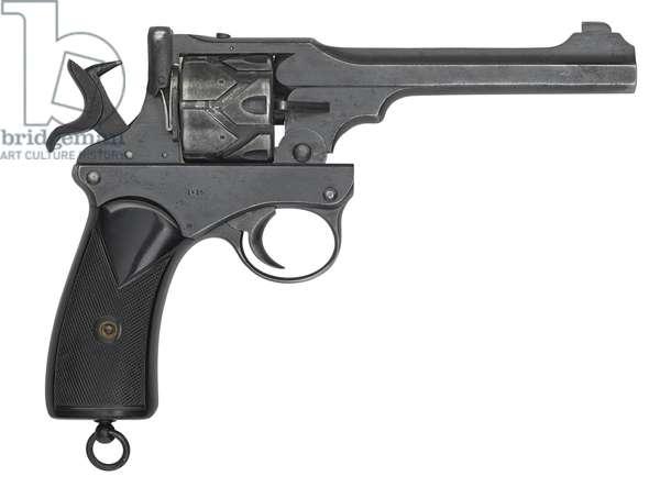 Webley Fosbery Model 1902 centrefire six shot automatic revolver, 1904 (photo)