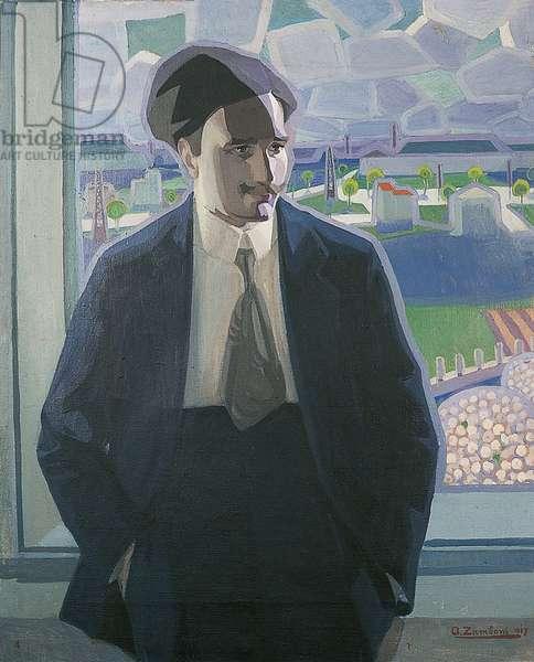 Portrait of Lionello Fiumi, 1917 (oil on canvas)
