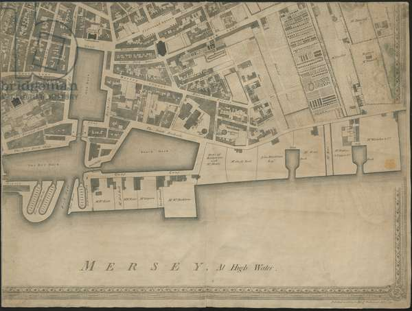 'The New and Accurate Plan of the Town and Port of Leverpool', from a survey, engraved by Thomas Kitchin, 1769 (engraving)