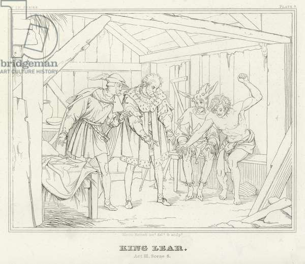 King Lear, Act III, Scene 6 (engraving)