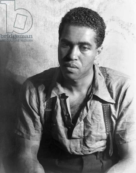 ROBERT EARL JONES (1910-2006). American actor and father of actor James Earl Jones. Photographed by Carl Van Vechten, while acting in the play, 'Don't You Want to be Free?' by Langston Hughes, 1938.
