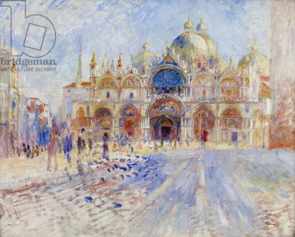 The Piazza San Marco, Venice, 1881 (oil on canvas)