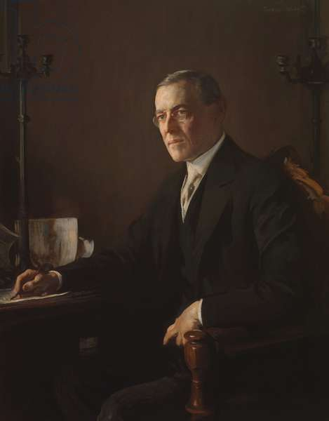 Woodrow Wilson (1856-1924) 1920-21 (oil on canvas)