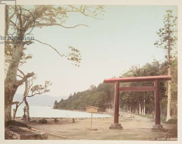 Gogen, Hakone, from A Book of Coloured Photographs of views in Japan, 1895 (coloured photo)