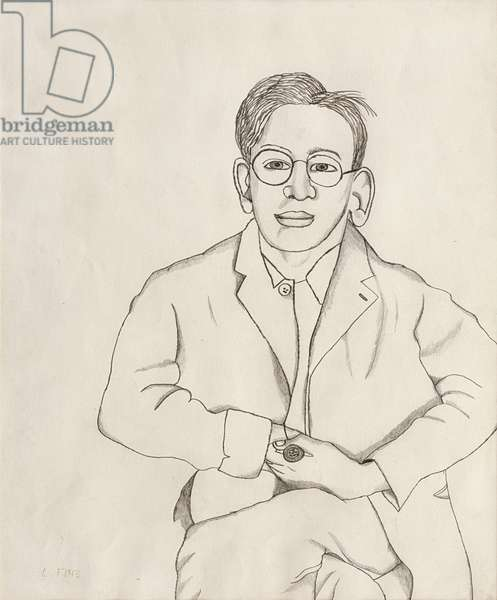 Boy with a Pipe, 1943 (pencil on paper)