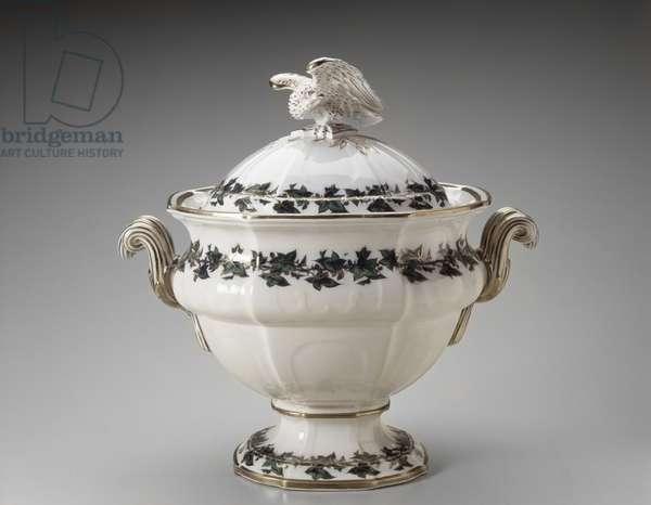 Soup Tureen, c. 1853 (lead-glazed earthenware)