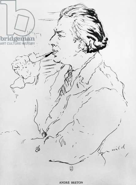 Surrealist poet Andre Breton