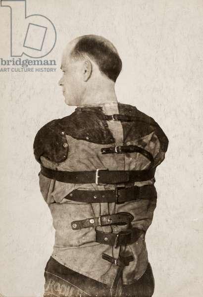 Mental Patient in Straight Jacket, c.1890 (silver gelatin print)