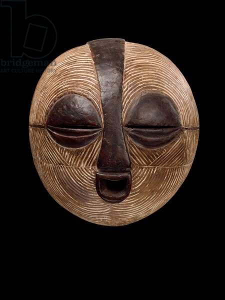 Mask, Baluba, Democratic Republic of the Congo (wood & kaolin)
