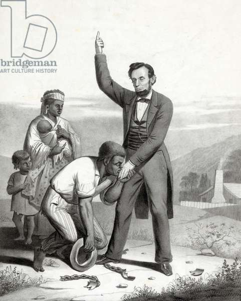 Emancipation of the slaves, 1862