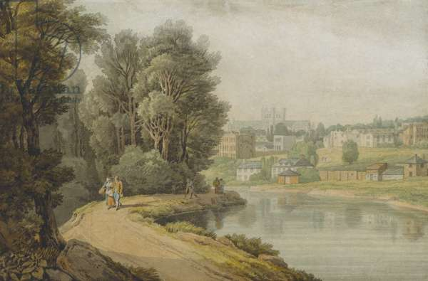 Exeter as seen from the River, 1816 (w/c on paper)