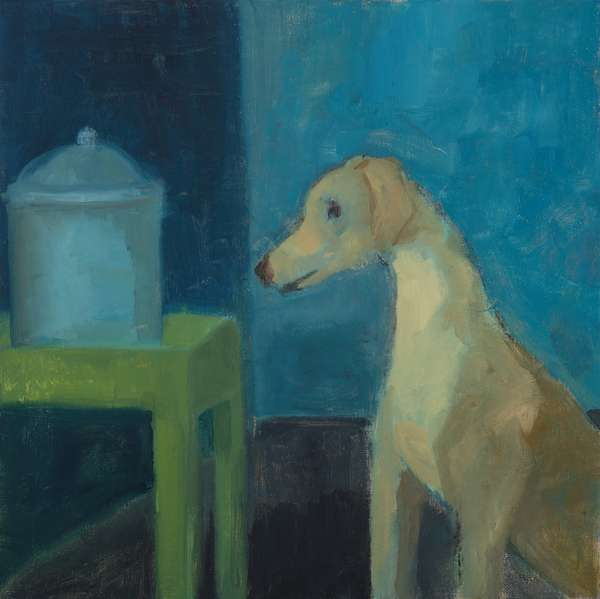 Yellow Dog with Cookie Jar