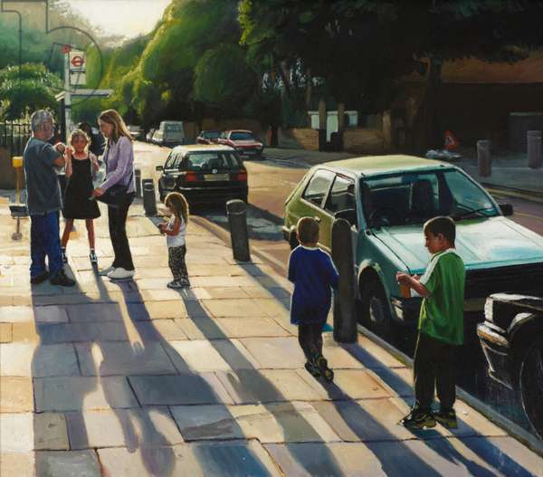 An Evening in North London (oil on canvas)