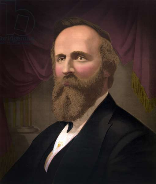 Rutherford B. Hayes (1822-93), 19th President of the United States, 1877-81, G.F. Gilman, 1877 (chromeolithograph)