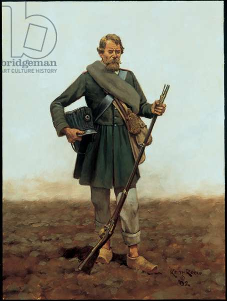 Private: Prussian Landwehr 1813, 2002 (oil on board)