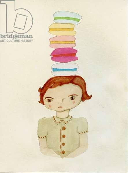 Macaroon Girl, 2009 (felt tip on paper)