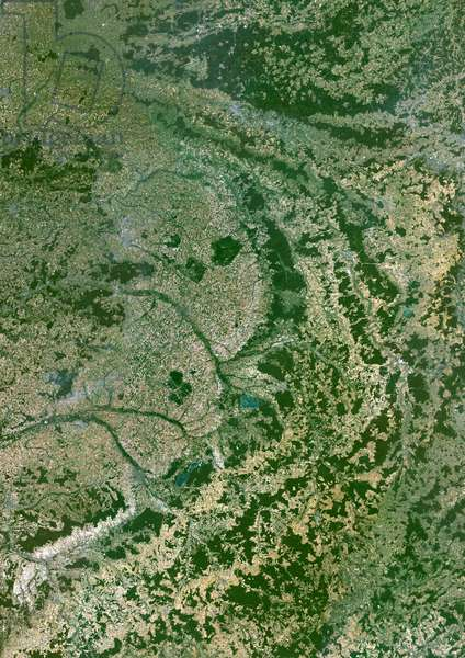 Champagne-Ardenne Region, France, True Colour Satellite Image