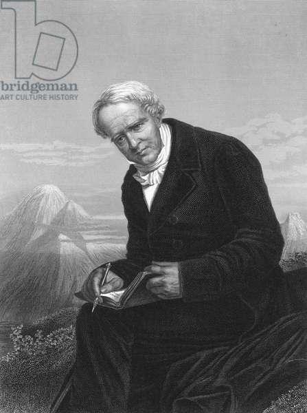 ALEXANDER VON HUMBOLDT (1769-1859). German naturalist. Steel engraving, American, 1873.
