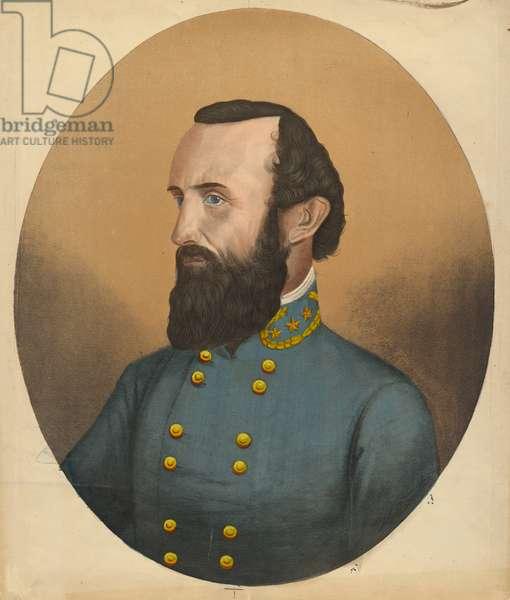 Thomas Jonathan Jackson, (1824-1863), c.1863 (lithograph)