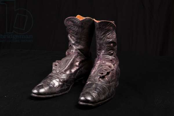 Ankle boots worn by Queen Alexandra, c.1910 (glace kid leather)