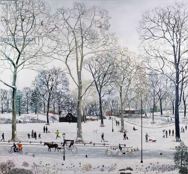 Central Park Snow; 2016, (oil on linen)
