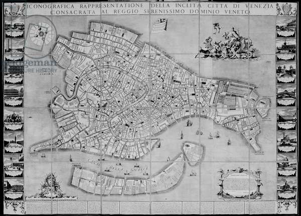 Map of Venice, 1729 (engraving)