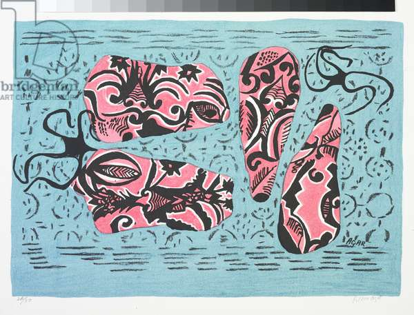 Shrimps at Sea, c.1948 (colour litho)