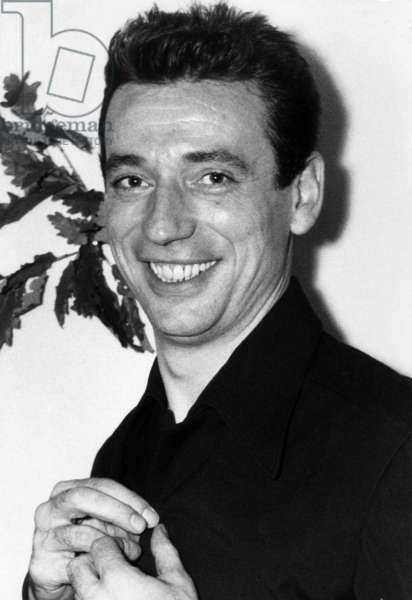 French Actor and Singer Yves Montand in 1953 (b/w photo)