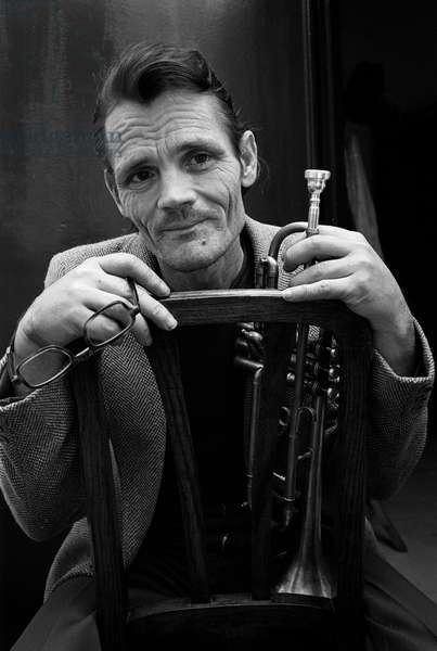 Rome, 1982. Jazz trumpeter Chet Baker (photo)