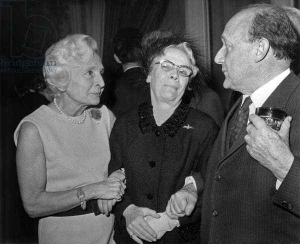 Rene Julliard, Mary Lindell and Colonel Remy, 1968 (b/w photo)