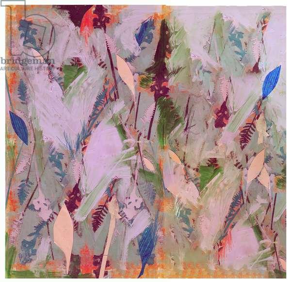 Botanical Collage # 1, 2017, (Mixed Media on Wood Panel)