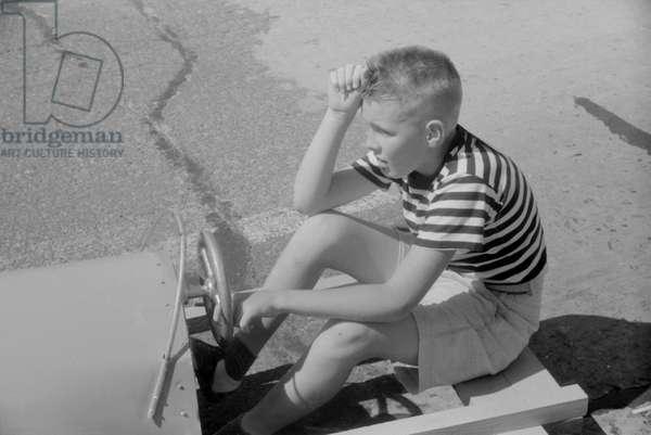 Entrant in Soapbox Auto Race During July 4th Celebration, Salisbury, Maryland, USA, July 1940