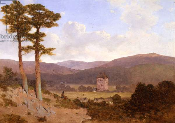 Gilnockie Tower, 1843 (oil on canvas)