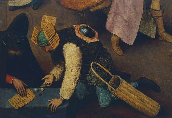 Dice players, detail from Fight between Carnival and Lent, 1559 (oil on panel)