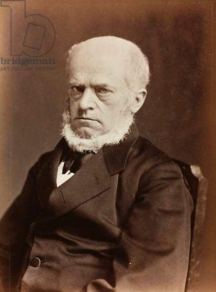 Portrait of Adolph von Menzel, German painter (b/w photo)