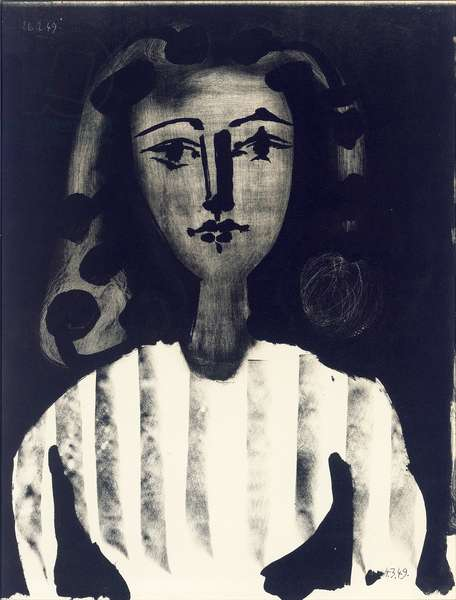 Young Girl with Striped Bodice, 1949 (litho)