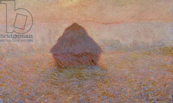 Grainstack, Sun in the Mist, 1891 (oil on canvas)