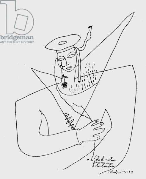 A sailor, drawing by Federico Garcia Lorca, 1934