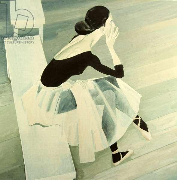 Tiredness, 2001 (tempera on paper)