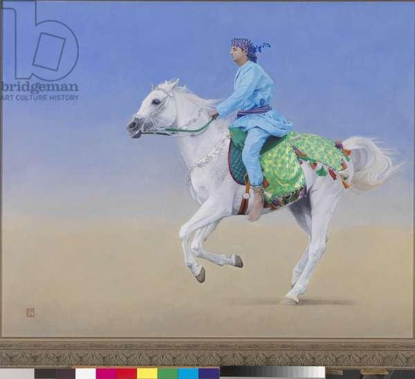 Oman Cavalryman, 2012 (oil on canvas)