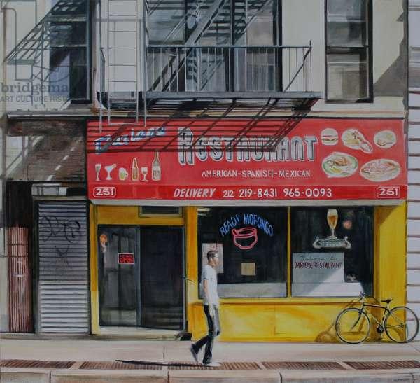 Darlene Restaurant, New York, 2013 (oil on canvas)