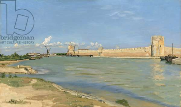 The Ramparts at Aigues-Mortes, 1867 (oil on canvas)