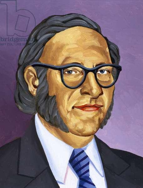 Isaac Asimov (1920-1992). American writer of Russian origin.